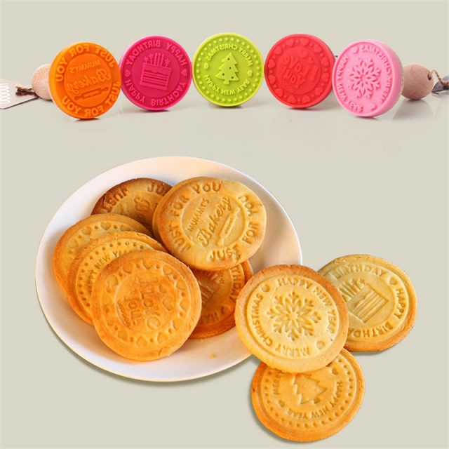 Cute Non-Stick Eco-Friendly Silicone Cookie Stamp