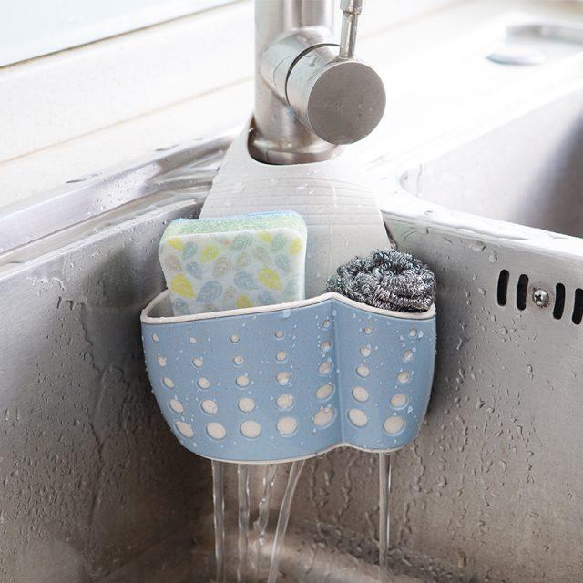 Eco-Friendly Kitchen Sponge Drain Holder