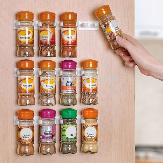 Spices Wall Organizer Storage Rack, 3 pcs