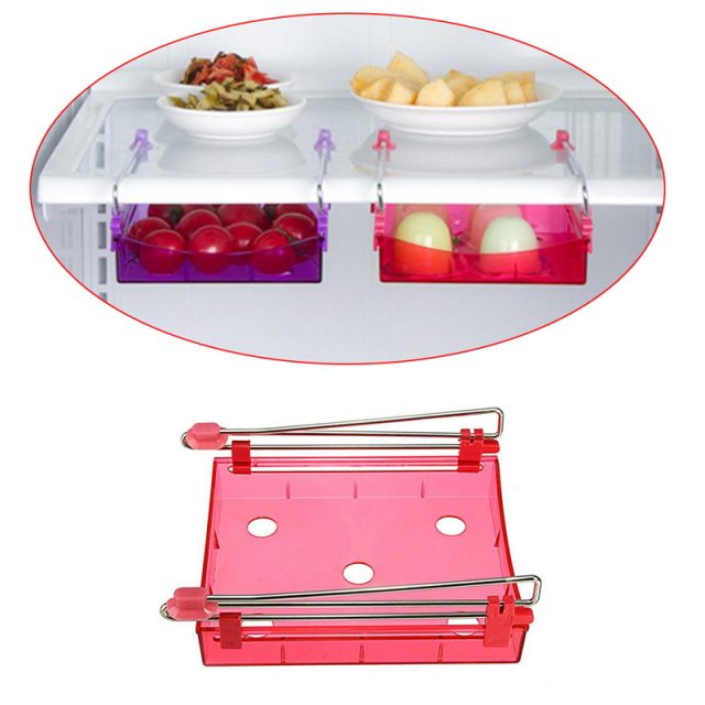 Kitchen Fridge Slide Organizer