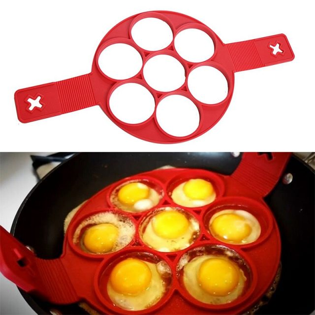 Non-Stick Red Color Silicone Pancake Makers